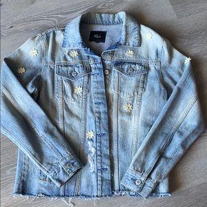 Distressed daisy rails denim jacket